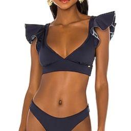 BOAMAR Funn Bikini Top in Deep Blue from Revolve.com | Revolve Clothing (Global)