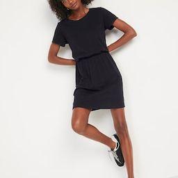 Waist-Defined Slub-Knit T-Shirt Dress for Women   Old Navy (US)