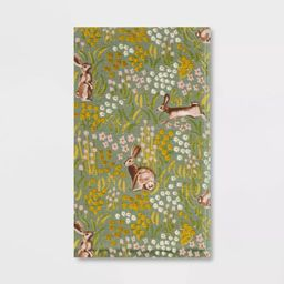 All Over Bunny Field Hand Towel Green - Threshold™   Target