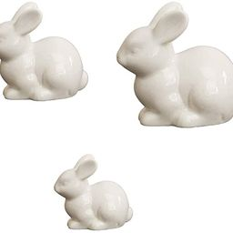 IMIKEYA 3pcs Ceramics Bunny Figurine Easter White Bunny Figurines Home Decor Rabbits Ornaments fo...   Amazon (US)