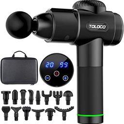 TOLOCO Massage Gun, Upgrade Muscle Massage Gun for Athletes, Handheld Deep Tissue Massager, Black   Amazon (US)
