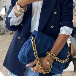 ZARA NEW WOMAN QUILTED DENIM MAXI CROSSBODY BAG DENIM BLUE 6365/610  | eBay | eBay US