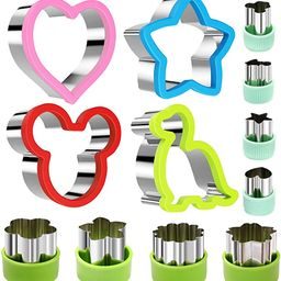 Stainless Steel Sandwiches Cutter set, Mickey Mouse & Dinosaur & Heart & Star Shapes Sandwich Cut...   Amazon (US)