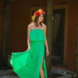 THE ELLIE GREEN MAXI DRESS   Judith March