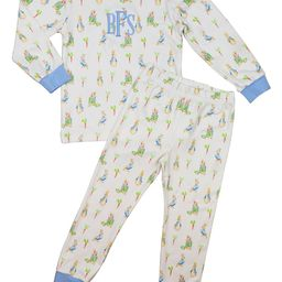 Blue Knit Easter Pajamas   Cecil and Lou