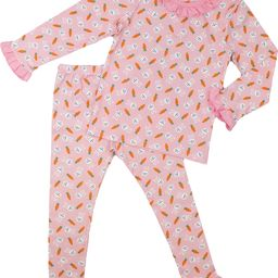 Pink Knit Bunny and Carrot Pajamas   Cecil and Lou