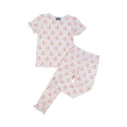 Pink Knit Bunny Print Pajamas   Cecil and Lou