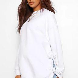 Maternity Tie Side Nursing Sweatshirt   Boohoo.com (US & CA)