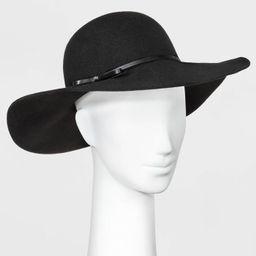 Women's Felt Floppy Hat - A New Day™ Black One Size | Target