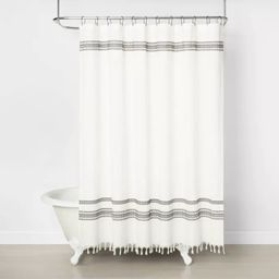 Embroidered Shower Curtain Railroad Gray - Hearth & Hand™ with Magnolia | Target