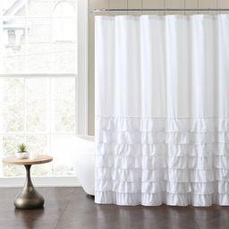 "VCNY Home Melanie Solid Ruffle 72"" x 72"" Shower Curtain - Walmart.com | Walmart (US)"