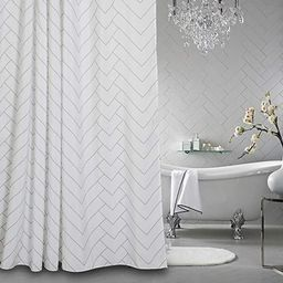 Aimjerry Hotel Quality Striped Fabric Shower Curtain for Bathroom, Washable White 72 X 72 Inch | Amazon (US)