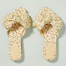 Jeffrey Campbell Floral Bow Slide Sandals | Anthropologie (US)