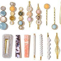 20 Pcs Macaron Hair Clips for Women Fashion Korean Style Acrylic Pearl Hair Clips Gifts for Women... | Amazon (US)
