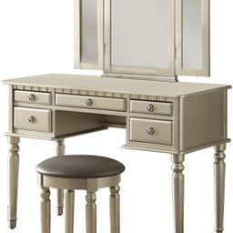 Benjara Vanity Set, Silver | Amazon (US)