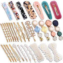 32 Pcs Pearl Acrylic Large Medium Mini Hair Clips Pins Barrette Hair Clips for Women Girls Fashio... | Amazon (US)