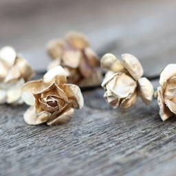 Gold Flower Hair Pins Bridal Gold Hair Bobby Pins Wedding | Etsy | Etsy (US)