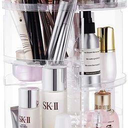 Seinlife 360 Rotating Makeup Organizer,DIY Adjustable Spinning Holder,Foldable Cosmetic Storage D... | Amazon (US)