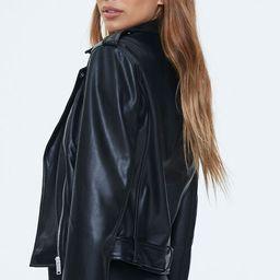 Faux Leather Moto Jacket | Forever 21 (US)