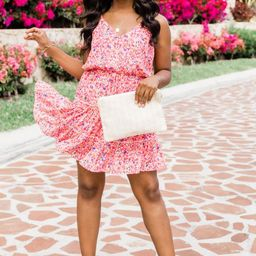 A Worthwhile Love Floral Pink Dress   The Pink Lily Boutique