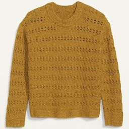 Textured Cable-Knit Pointelle Sweater for Women   Old Navy (US)