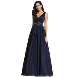 Ever-Pretty Womens A-Line Sequins Long Wedding Guest Dresses for Women 07793 Navy Blue US10 | Walmart (US)