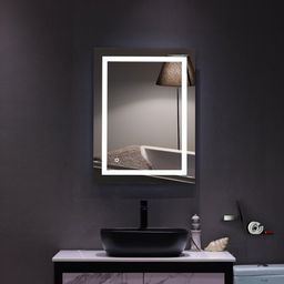 """Topcobe 40""""""""x 24"""""""" LED Lighted Wall Mount Mirror, Touch LED Wall Mount Makeup Mirror, Bathroom Vanit 