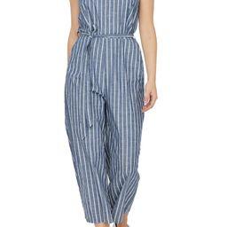 Dotti Stripe Chambray Crop Jumpsuit | Nordstrom