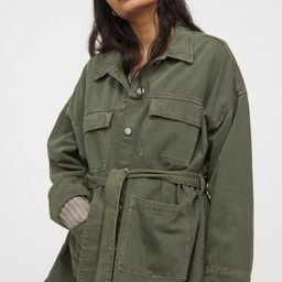 Cotton utility jacket | H&M (UK, IE, MY, IN, SG, PH, TW, HK, KR)