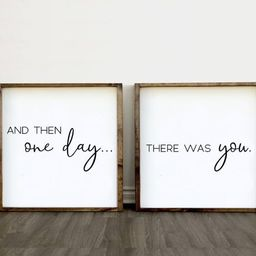 And Then One Day There Was You Wood Wall Art  Large Set of | Etsy | Etsy (CAD)