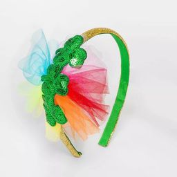 Girls' St. Patrick's Day Clover Headband with Tulle - Cat & Jack™   Target