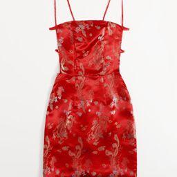 Chinese Dragon & Phoenix Print Tie Back Cami Dress | SHEIN