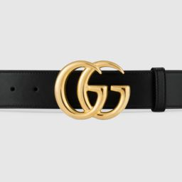 GG Marmont leather belt with shiny buckle | Gucci (US)