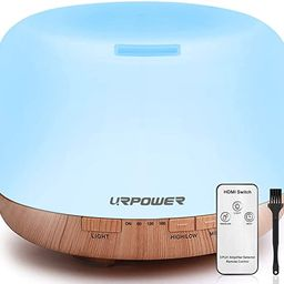 URPOWER 500ml Aromatherapy Essential Oil Diffuser Humidifier Diffusers for Essential Oils Room De... | Amazon (US)