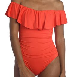 Off the Shoulder One-Piece Swimsuit | Nordstrom