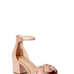 Time and Tru Women's Braided Low Block Heel Sandals   Walmart (US)