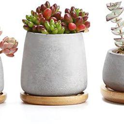 T4U 3 Inch - 4.25 Inch Cement Succulent Cactus Pot, Concrete Planter Pot Container Window Box, Sm... | Amazon (US)