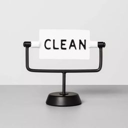 'Clean / Dirty' Reversible Sign White/Black - Hearth & Hand™ with Magnolia   Target