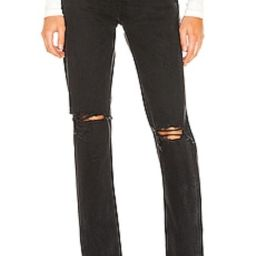 AGOLDE Cherie High Rise Straight in Distortion from Revolve.com   Revolve Clothing (Global)