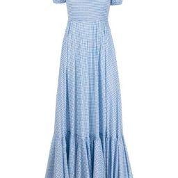 Gianna check-print maxi dress | Farfetch (US)