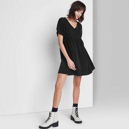 Women's Short Sleeve Babydoll Sweatshirt Dress - Wild Fable™ | Target