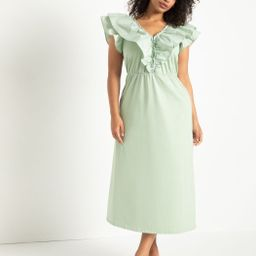 Maxi Dress with Flutter Sleeves   Eloquii