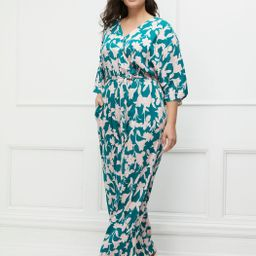 ELOQUII Elements Kimono Sleeve Jumpsuit   Eloquii