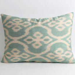 silk cushion cover silk ikat pillow mom gift sofa pillow tribal bohemian bedroom lake house decor... | Etsy (US)