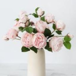 """Natural Touch Artificial Roses in Blush - 21"""" Tall 
