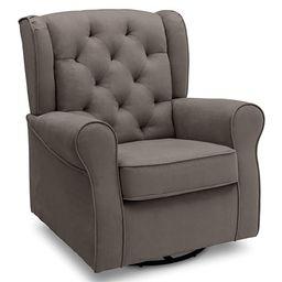 Delta Children Emerson Nursery Glider Swivel Rocker Chair, Graphite | Amazon (US)
