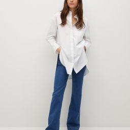 Oversize poplin shirt | MANGO (US)