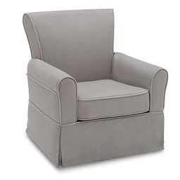 Delta Children Benbridge Glider Swivel Rocker Chair, Dove Grey with Soft Grey Welt | Amazon (US)