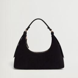 Leather baguette bag | MANGO (US)