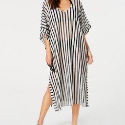 Striped Maxi Caftan Cover-Up | Macys (US)